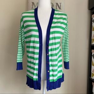 JCP| Striped long sleeves cardigan